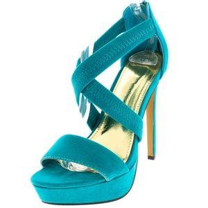 Shoes - Aphrodite Sea Green Platform Heel
